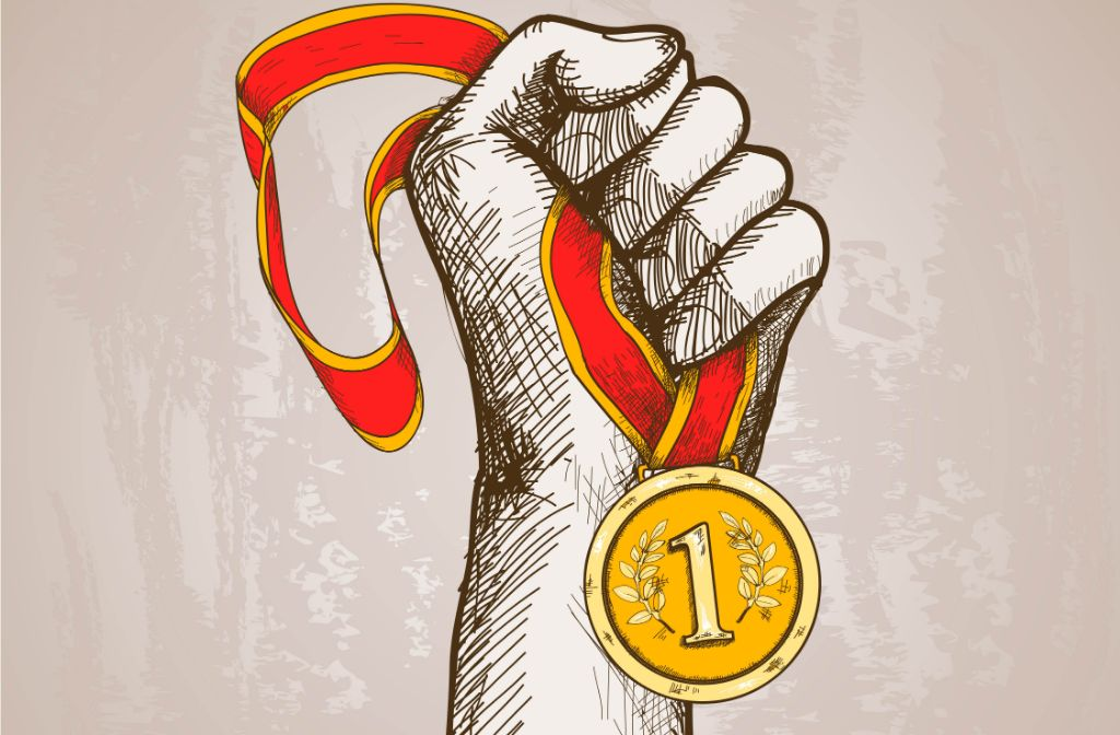 Hand Holding Medal