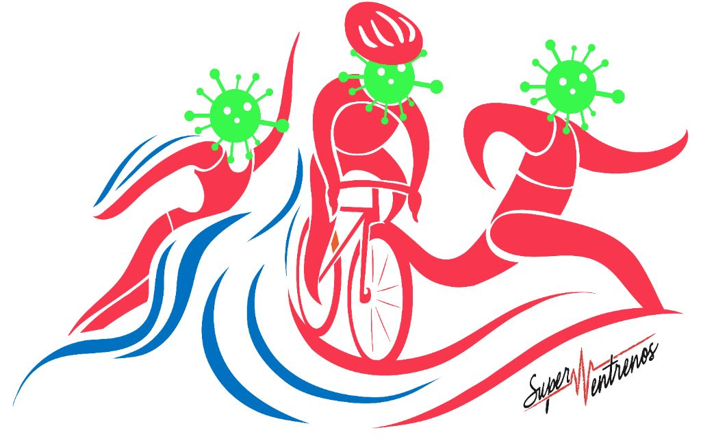 Triathlon Icon In Colors